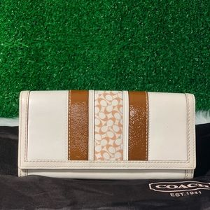 COACH Signature Strip Wallet